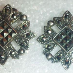 Marcasite & Sterling Earrings